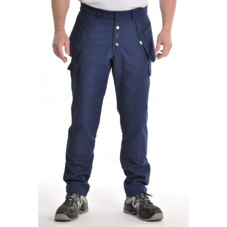 Pantalon multipoches marine