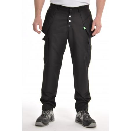 Pantalon multipoches noir