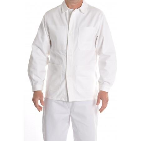 veste blanche majoritaire coton