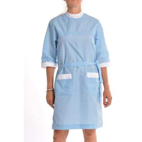 blouse nylon bleu ciel