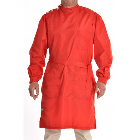 Blouse Yves en nylon rouge