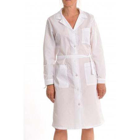 Blouse 11005 en nylon blanc
