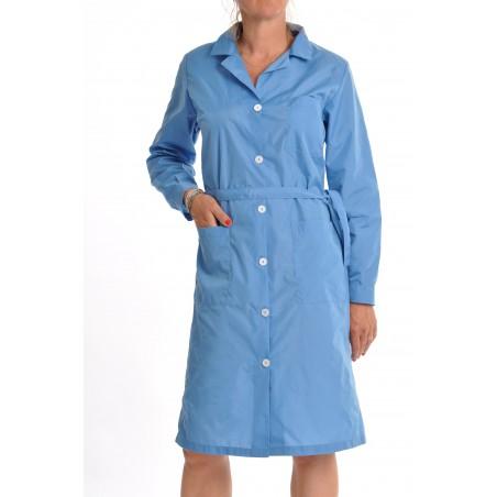 Blouse 11005 en nylon bleu pervenche