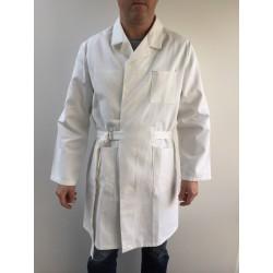 Blouse de travail croisée 0901 blanche en coton