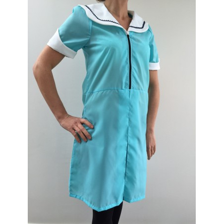 Blouse robe Maria en nylon turquoise