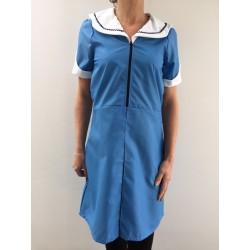 Blouse robe Maria en nylon bleu